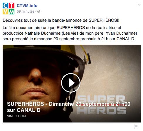 SUPERHÉROS un documentaire de la réalisatrice et productrice Nathalie Ducharme sur le métier de pompier au Québec produit par médias big deal productions