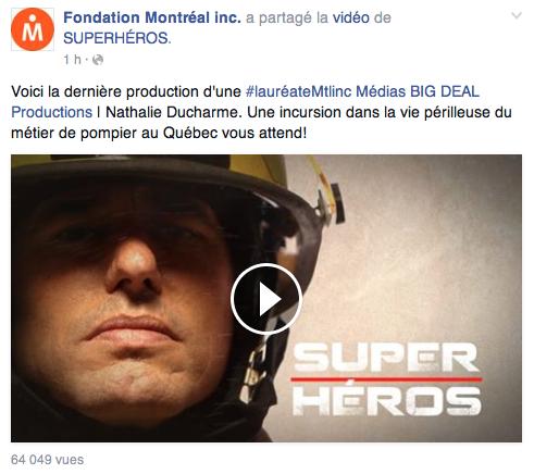 Fondation Montréal Inc. nathalie ducharme superhéros pompier